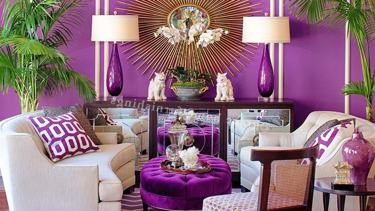 20 Beautiful Purple Living Room Ideas