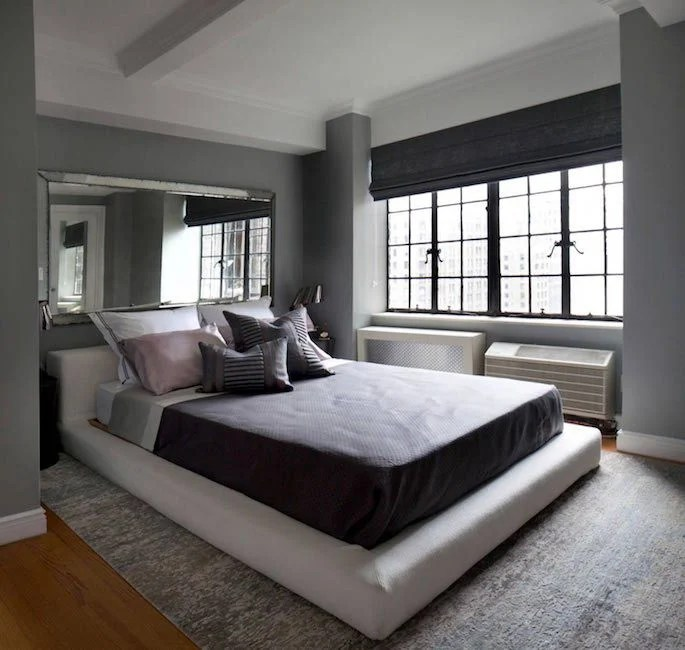 20 Gorgeous Bedrooms with Big Mirrors on Mirrors Next To Bed  id=66095