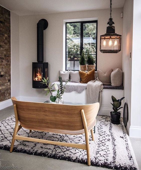 20 Beautiful Fireplaces for a Small Living Space on Small Space Small Living Room With Fireplace  id=28275
