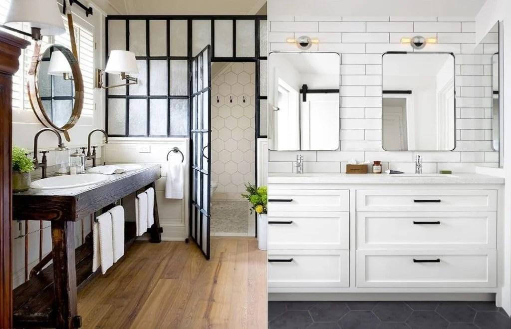 20 Gorgeous Examples of a Farmhouse Bathroom on Farmhouse Modern Bathroom Ideas  id=91387