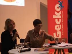 """Fotos von der Lesung auf der Buchmesse in Frankfurt """"10 Jahre Gecko"""""""