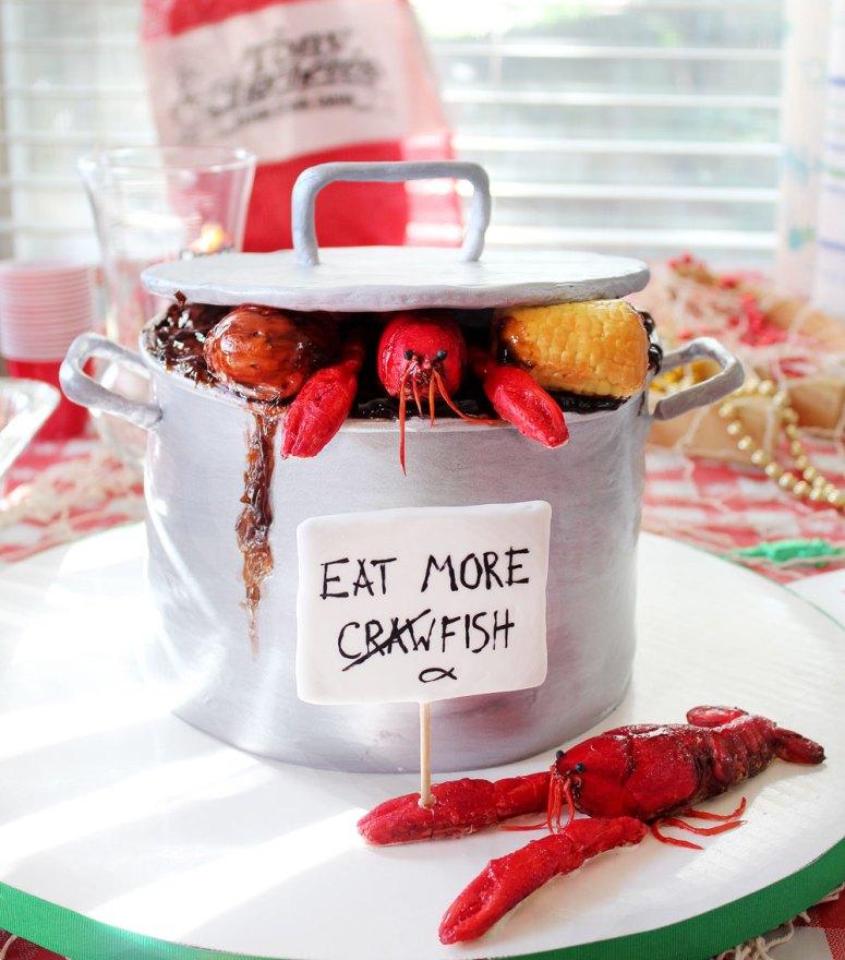 crawfish boil pot cake louisiana chocolate web