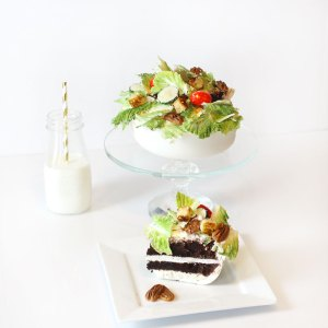 salad cake chocolate