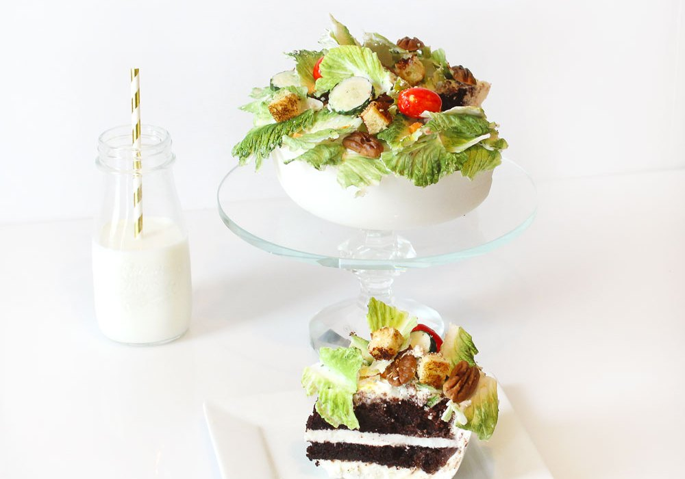 salad cake chocolate