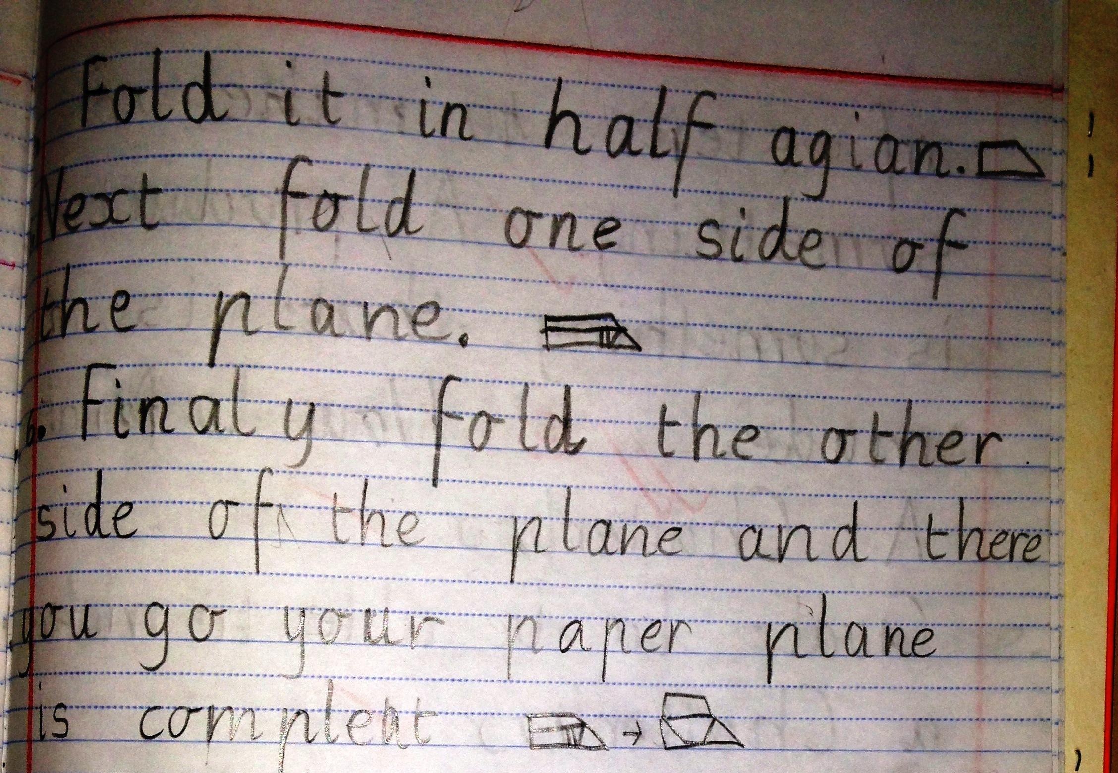 Procedural Text The Fun Genre How To Make A Paper Plane