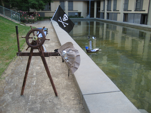 Remote Controlled Pirate Ship Robot Controller Pirate Wheel and Pirate Hat