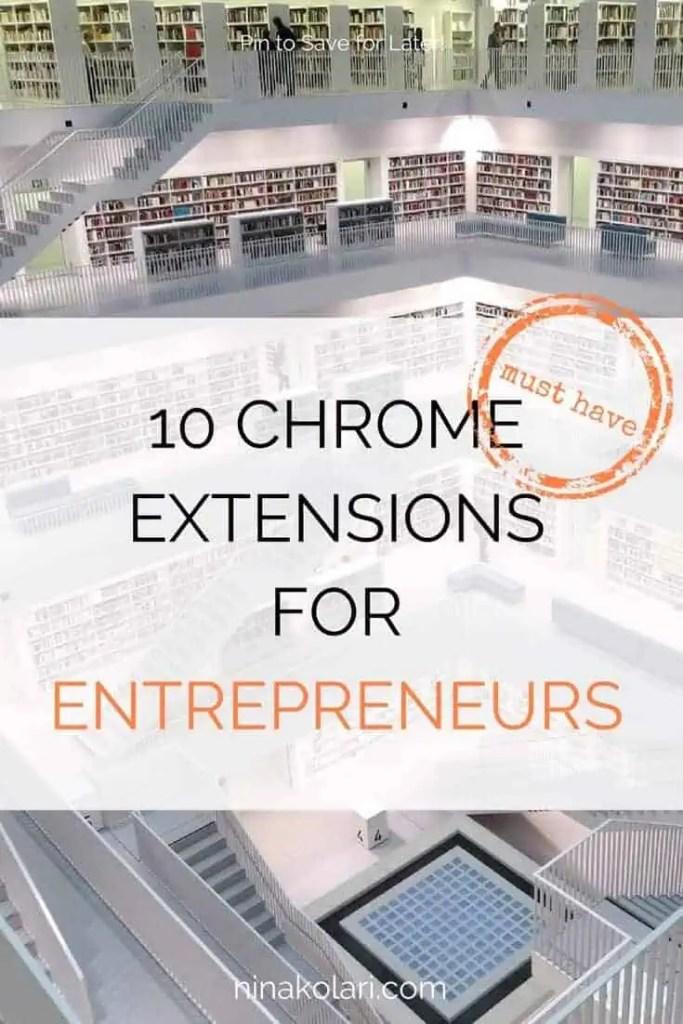 chrome extensions for entrepreneurs