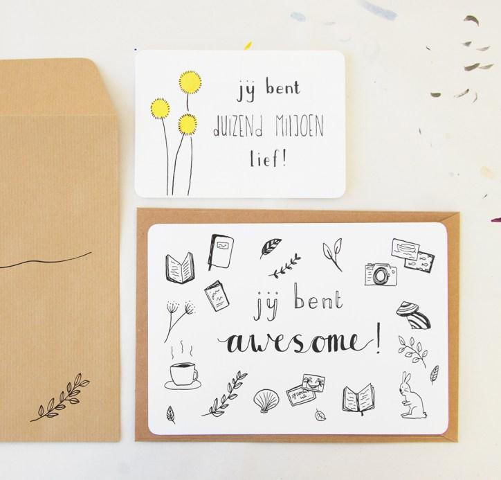 Custom postcard 'you are awesome!'