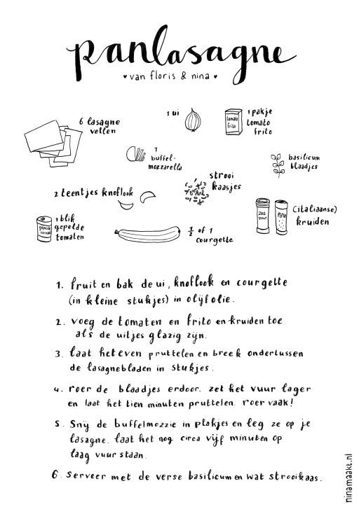 ninamaakt recipe lasagna