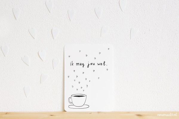 ninamaakt postcard 'ik mag jou wel'