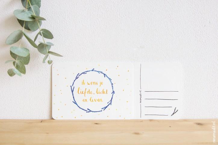 ninamaakt postcard 'Liefde, Licht en Leven'
