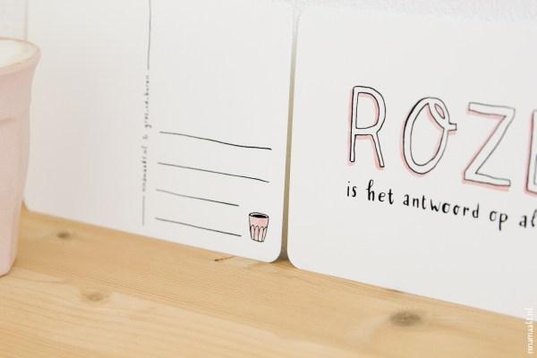 ninamaakt card - Roze
