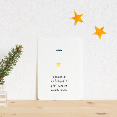 ninamaakt card - Ieniemini wondermooi (star)