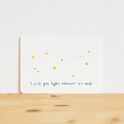 ninamaakt kaart 'I wish you lights'