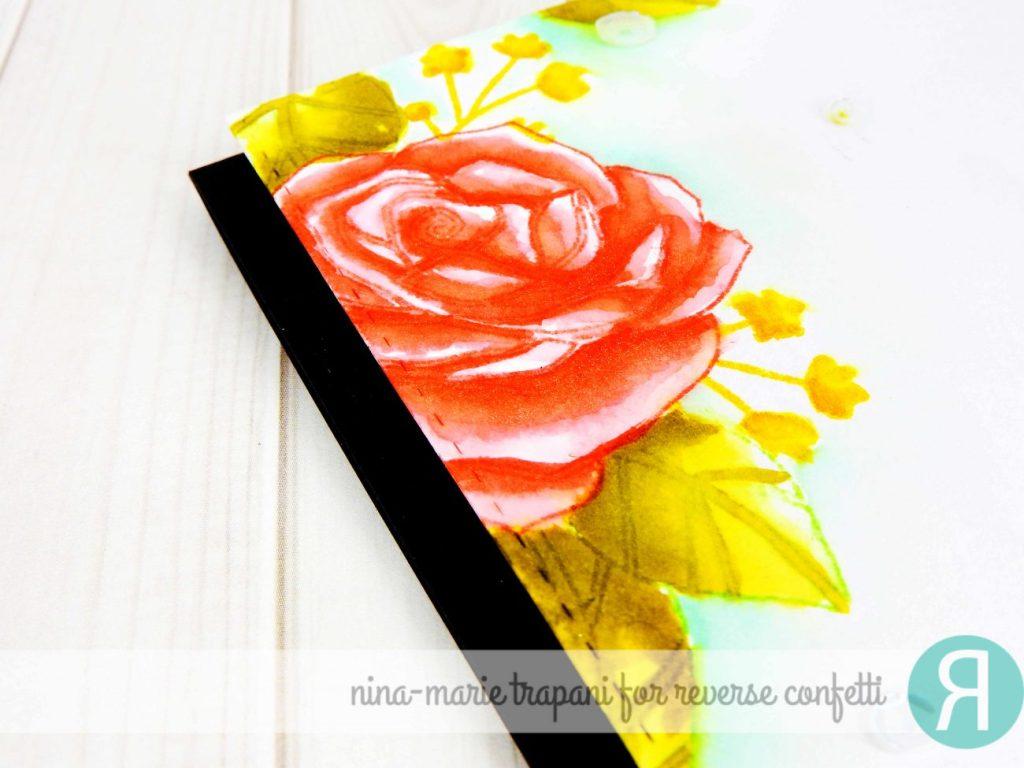 Distress Ink Watercolor Florals + Hop_2