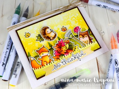 Watercolor Scene with Zig Markers + Simon's Masterpieces_2