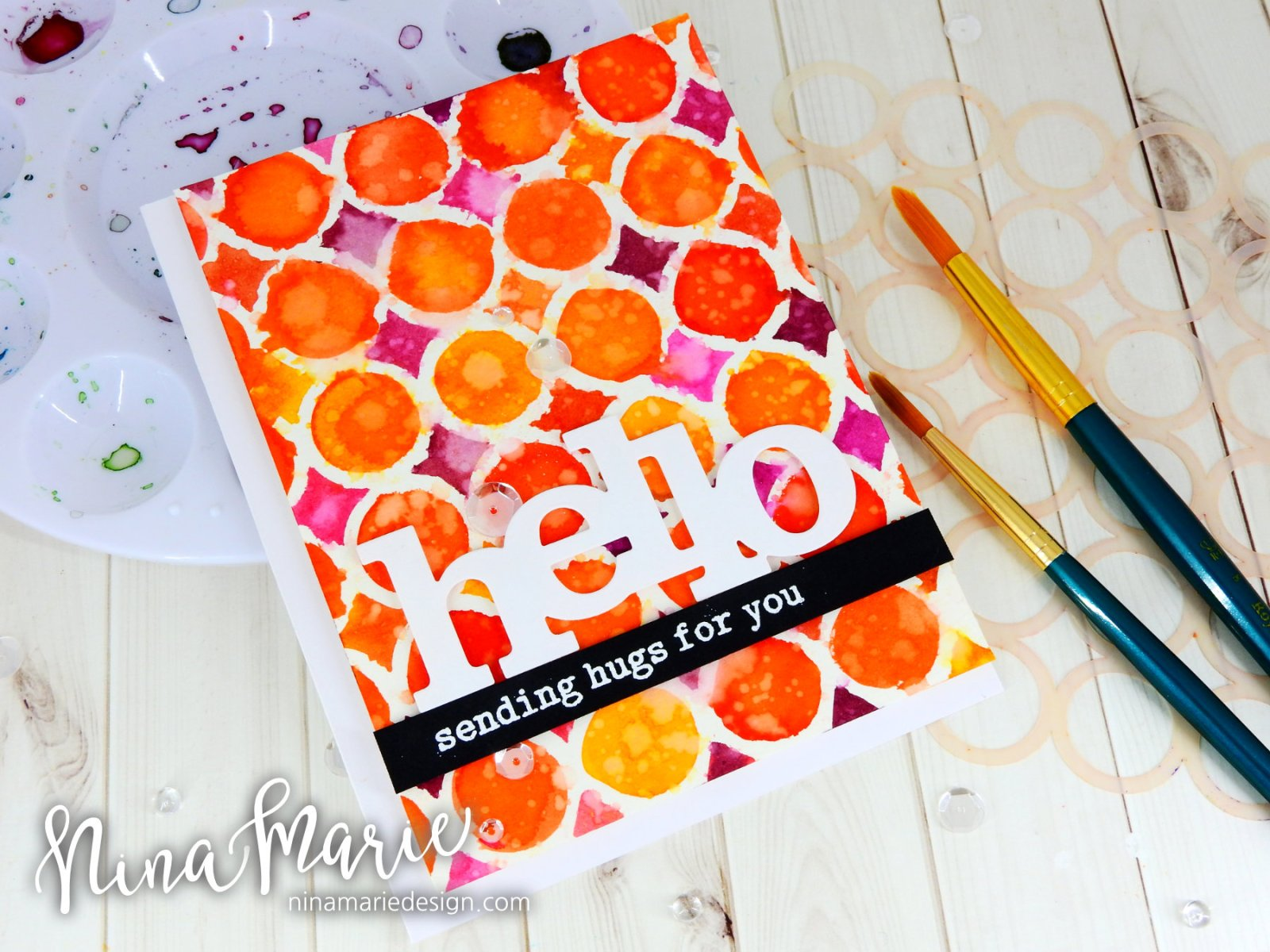 Watercoloring With Stencils + Distress Inks_1
