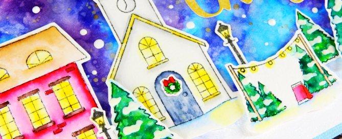 Watercolor Night Scene + Simon's Advent Plus Release Nina-Marie Design
