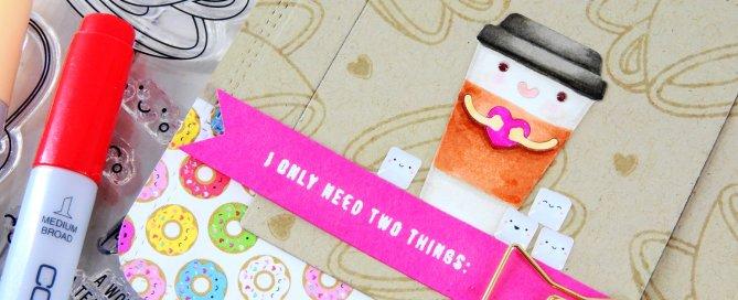Copic Colored Die Cuts + Simon's February Card Kit Nina-Marie Design