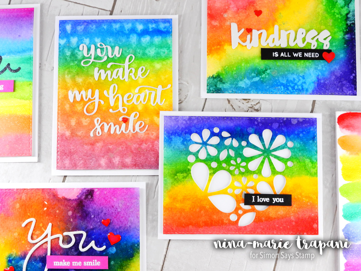 Prima Watercolor Confections + Rainbow Cards + Kindness Day | Nina-Marie Design
