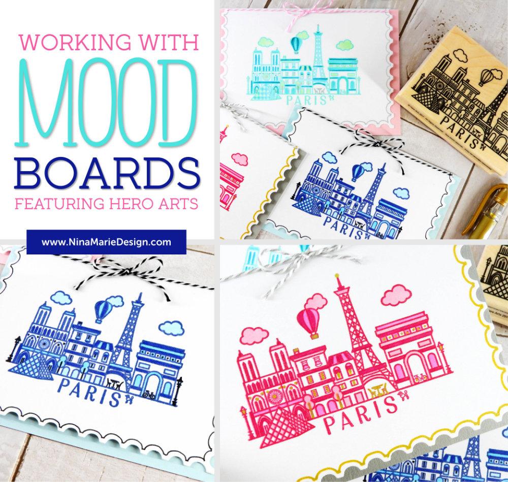 Working with Mood Boards + Hero Arts | Nina-Marie Design