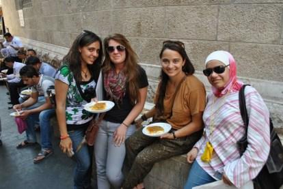 Kunafeh with peer tutors