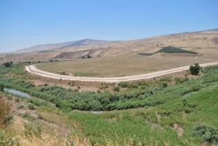 Israeli border along the Yarmouk River