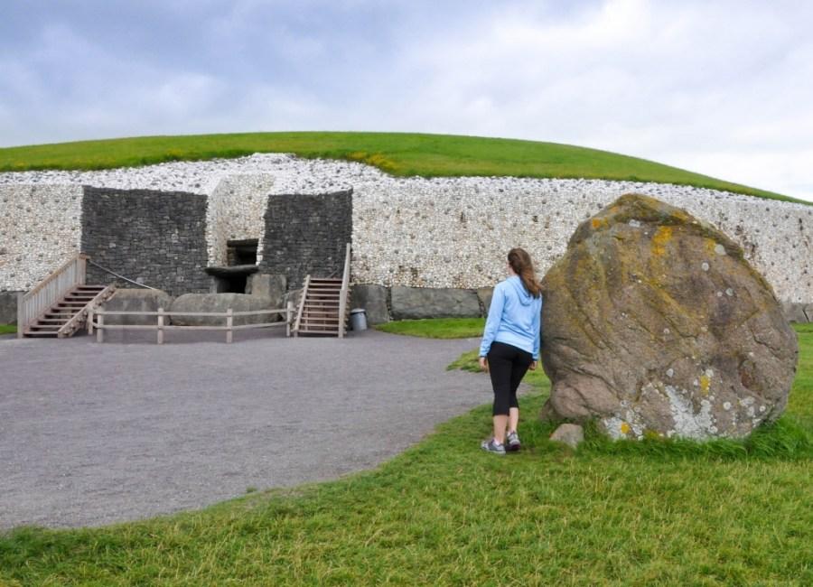 Outside the Newgrange Passage tomb.
