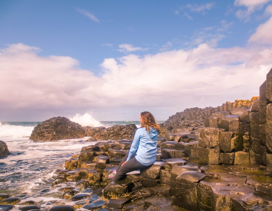 Nina Near and Far at Giant's Causeway