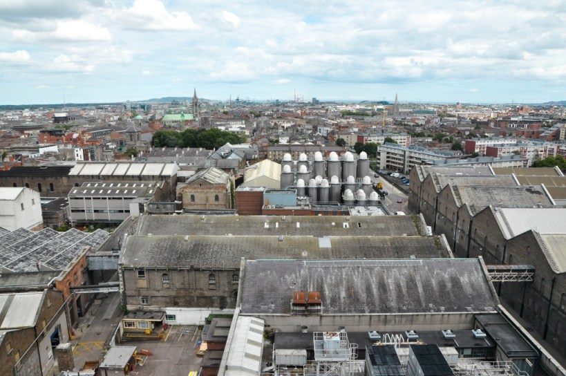 Guinness Storehouse view of Dublin