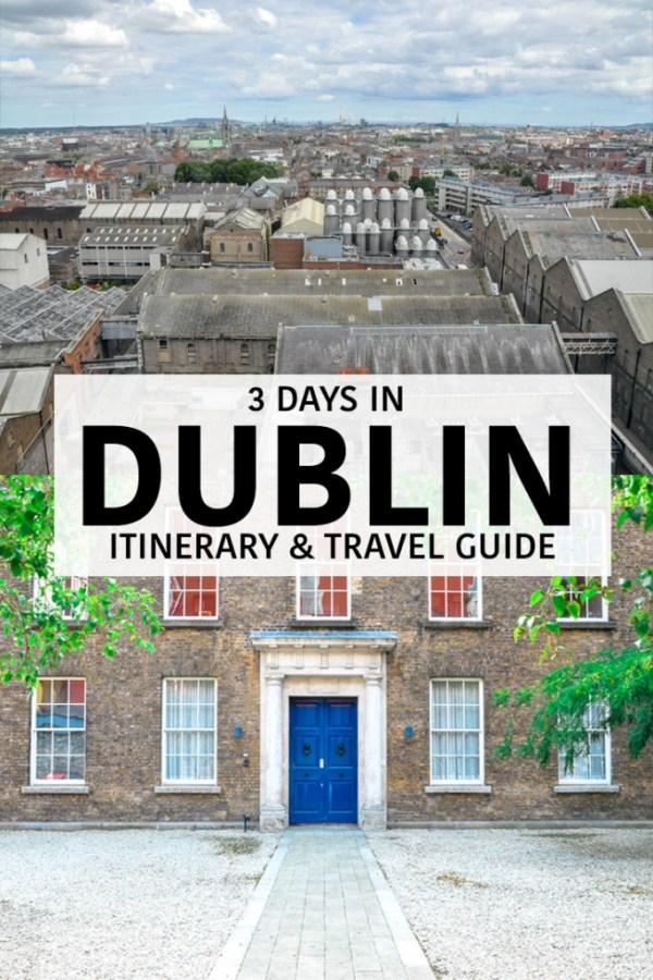 3 Days in Dublin Pin
