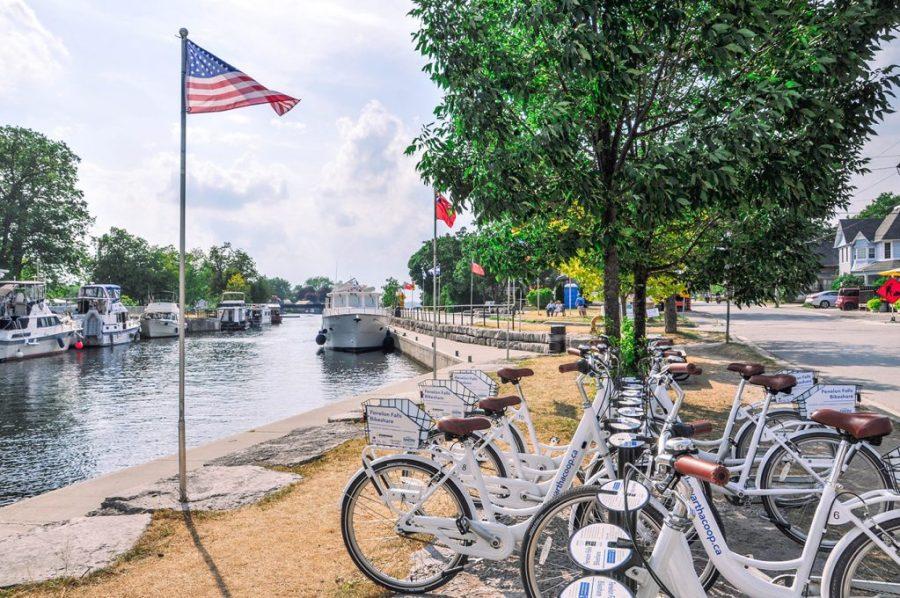 Bike rentals at Fenelon Falls