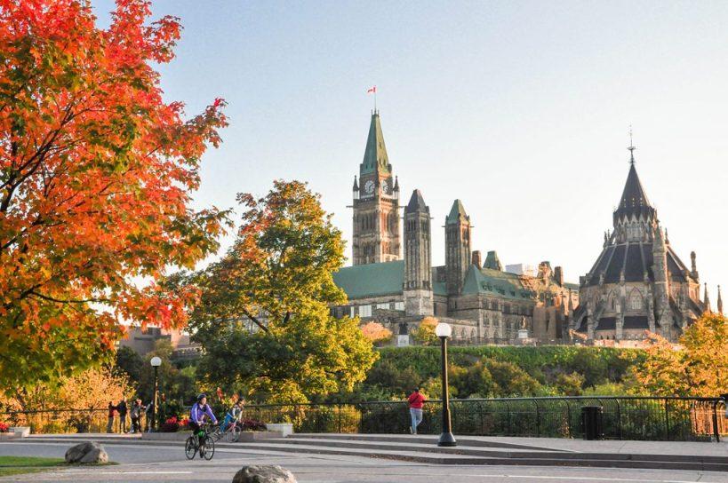 Major's Hill Park Ottawa in Fall