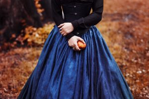 Snow White princess with the famous red apple.