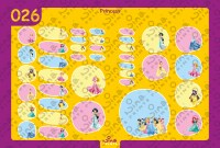 Princess Back to School Stickers/ Labels From Nina Prints