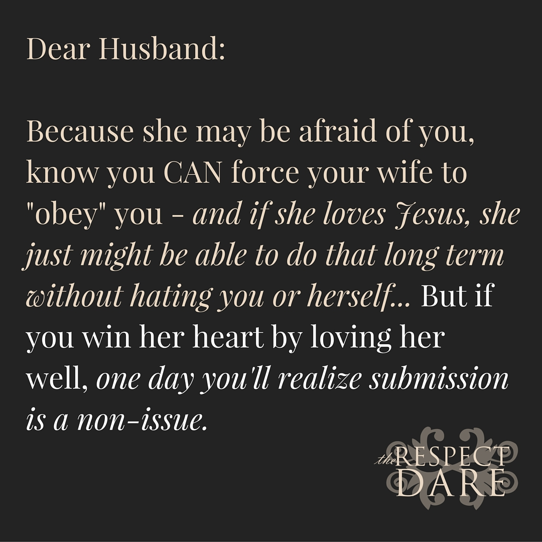 Wives obey husbands