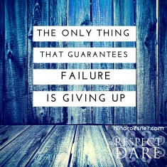 GIVING UP (1)