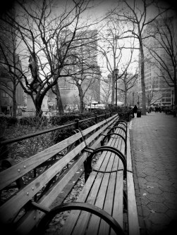Like in the movies, right?! At Union Square Park.