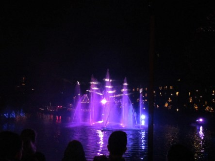 Nutcracker laser light show at Tivoli Gardens