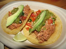 Tacos with freshly made corn tortillas
