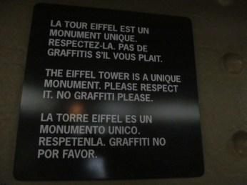 No graffiti!