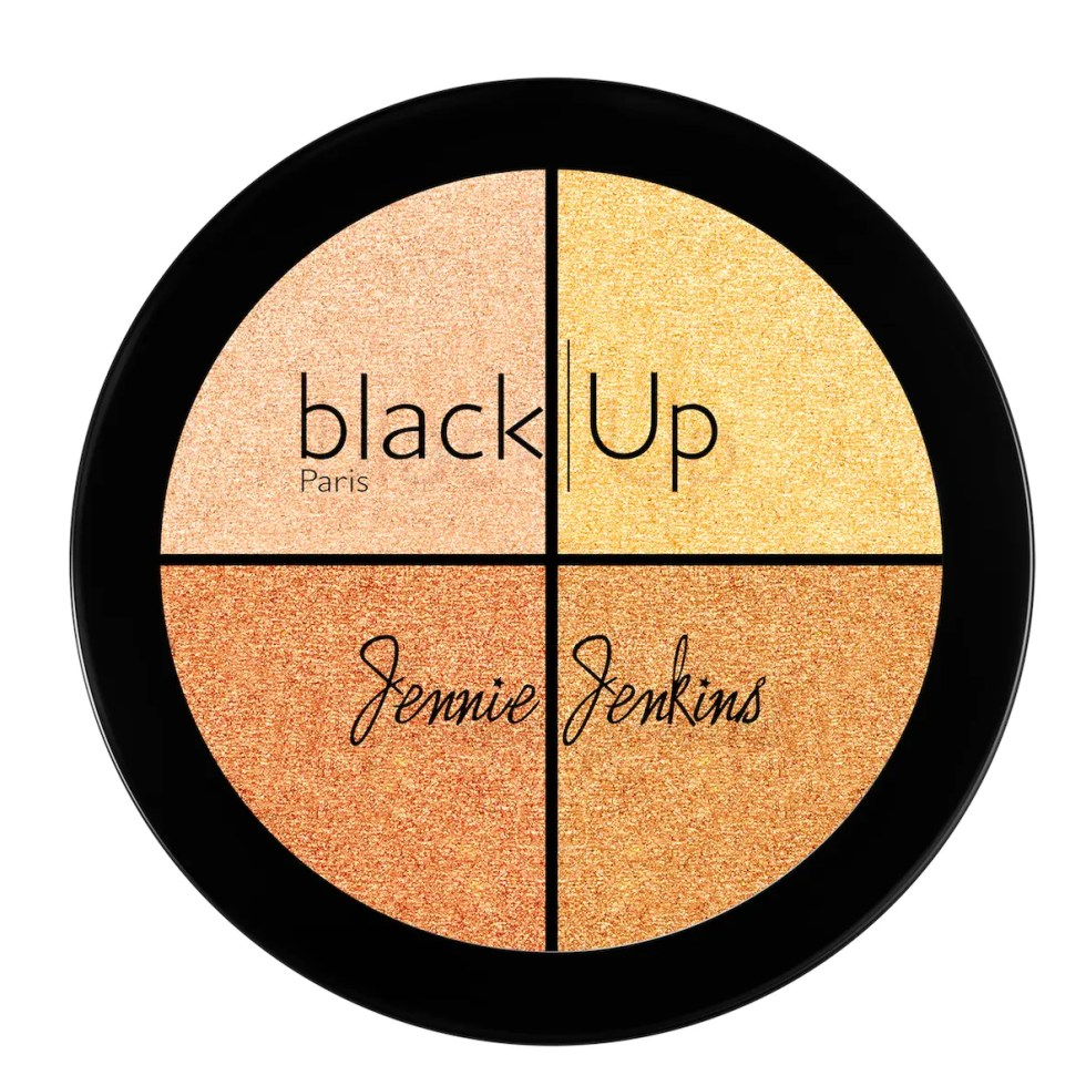 Black Up x Jenny Jenkins Highlighter Palette N2 - AED