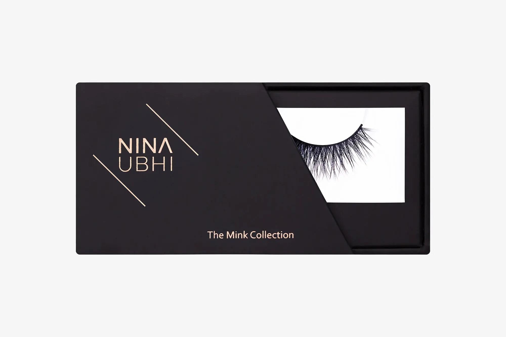 Ella Mink Lashes, false eyelashes in a Nina Ubhi branded box