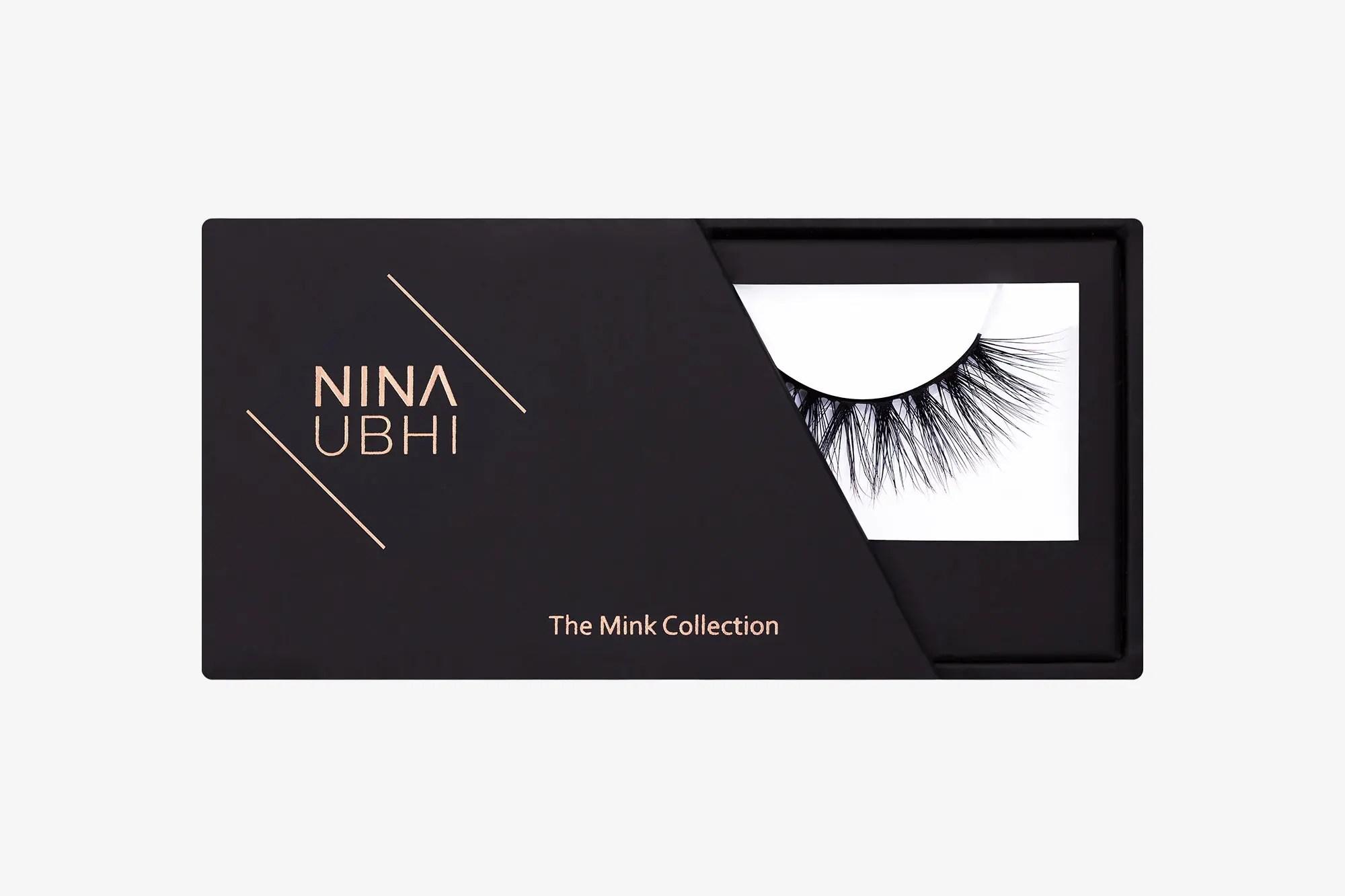 Nina Mink Lashes, false eyelashes in a Nina Ubhi branded box
