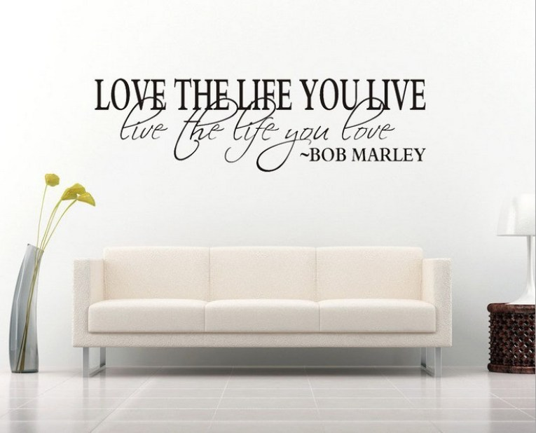 Bob-Marley-Quote-Wall-Decal-Decor-Love-Life-Words-Large-Nice-Sticker-Text-Wall-Sticker-Vinyl