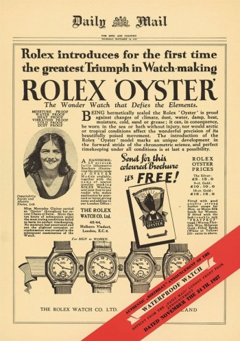Rolex Advertisement Daily Mail 1927