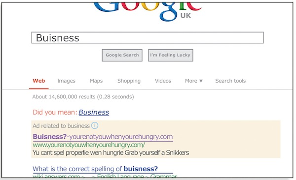 snickers-google-buisness-search