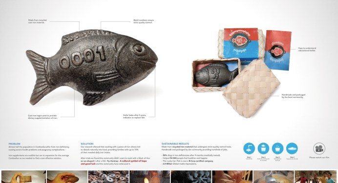 """LUCKY IRON FISH """"Project Boosts Health in Cambodia"""" giúp giảm nguy cơ thiếu máu"""
