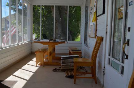 My vote for best front porch in Oregon, overlooking Malheur wildlife refuge lands.