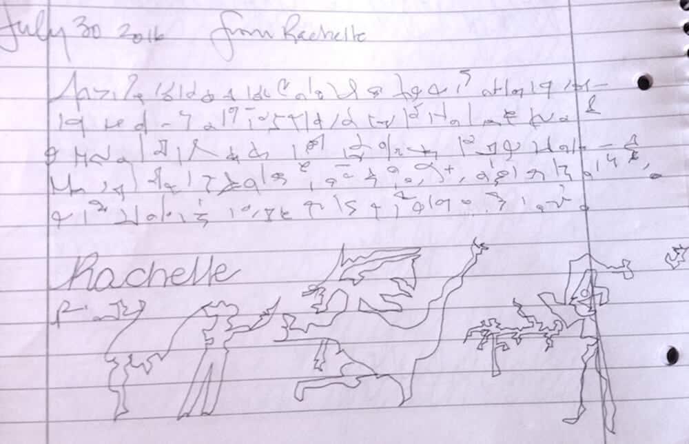 Rachelle and a Dragon